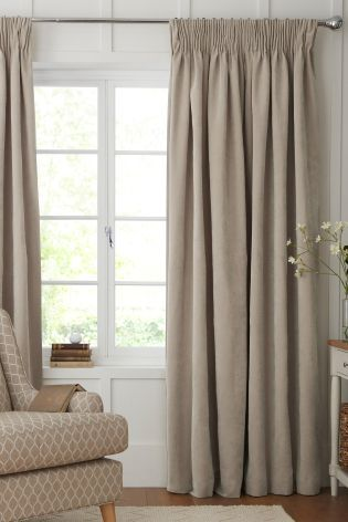 Buy Soft Velour Pencil Pleat Curtains From The Next UK Online Shop
