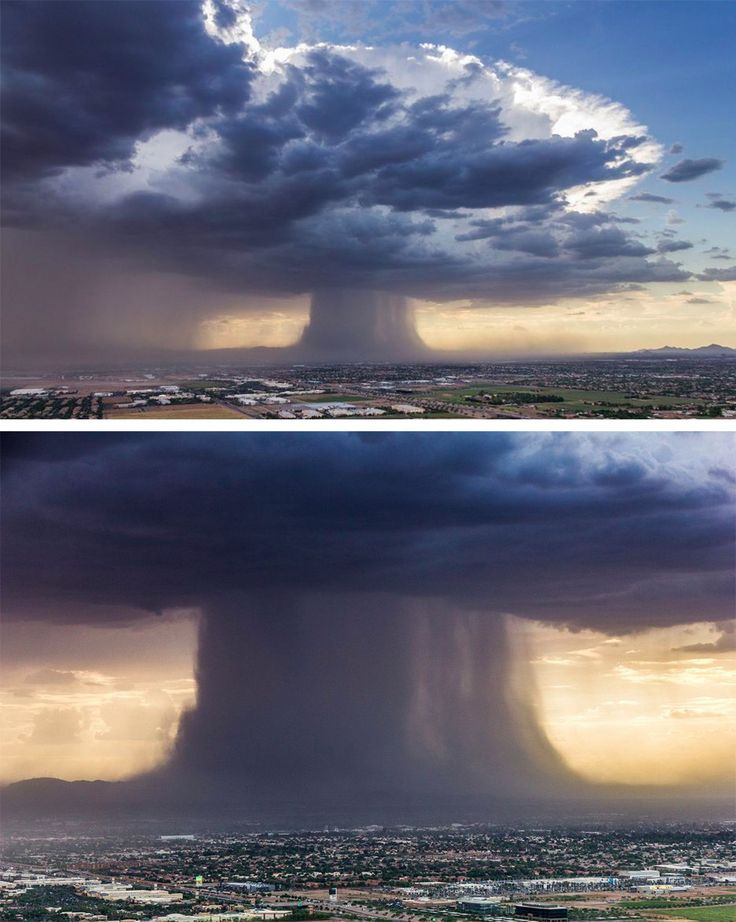Photographs of a Microburst Rising Over Phoenix Appear Just Like a Mushroom Cloud