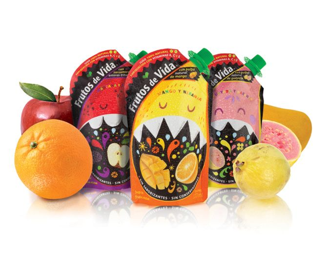 Frutos de Vida Niños Concepto y diseño de empaque para los jugos naturales Frutos de Vida en su versión para niños.