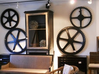 Old gears become art; seen on a buying trip in NC: Collection