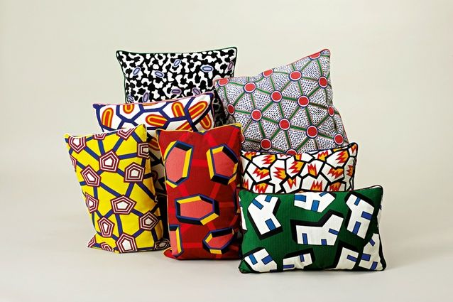 Printed and embroidered textiles Nathalie Du Pasquier for Hay.