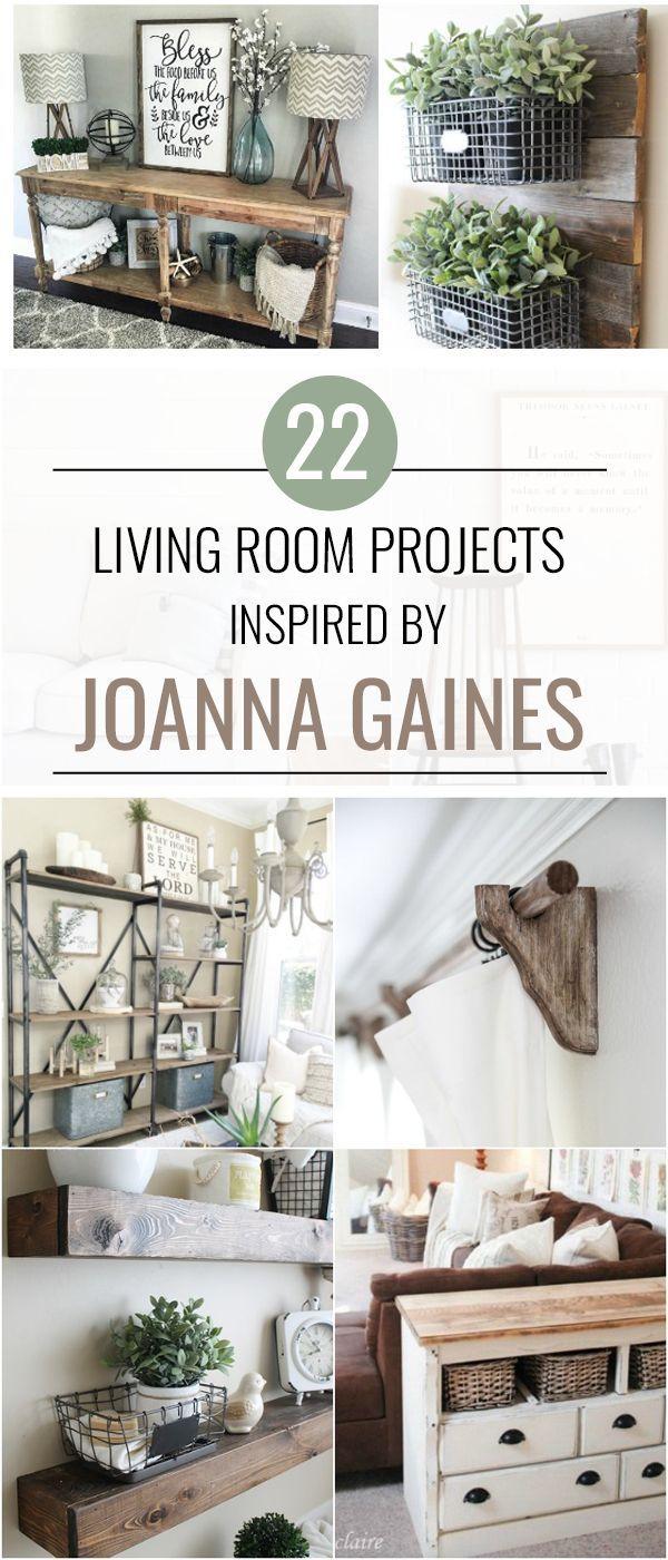22 Möglichkeiten, Ihr Wohnzimmer wie eine Episode von Fixer Upper aussehen zu lassen