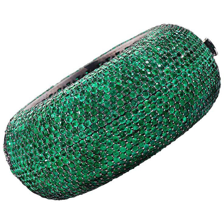 Emerald Bangle Bracelet 115 Carats