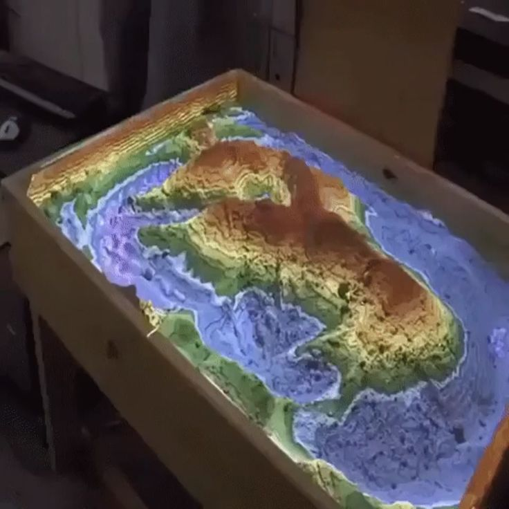 Interactive topography box