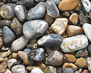 Seawashed pebbles