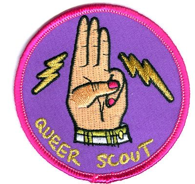 Queer Scout Badge by MaryMackWear on Etsy, $4.00