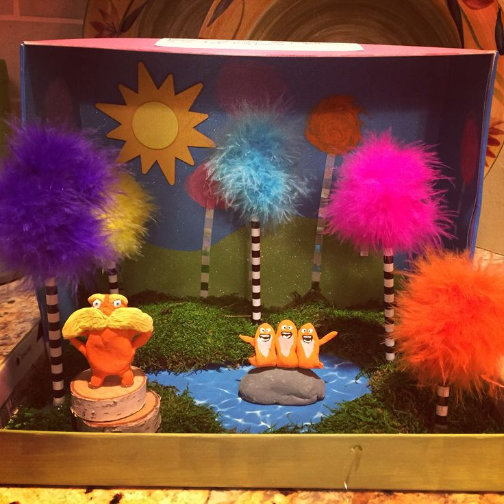 The Lorax diorama (Dr. Seuss)