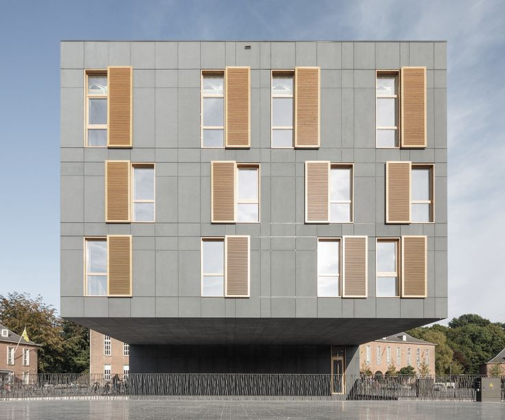 equitone facade panels cantilever design city hall mortsel hudson pinterest facades. Black Bedroom Furniture Sets. Home Design Ideas