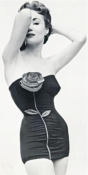 1950's Rose Swimsuit