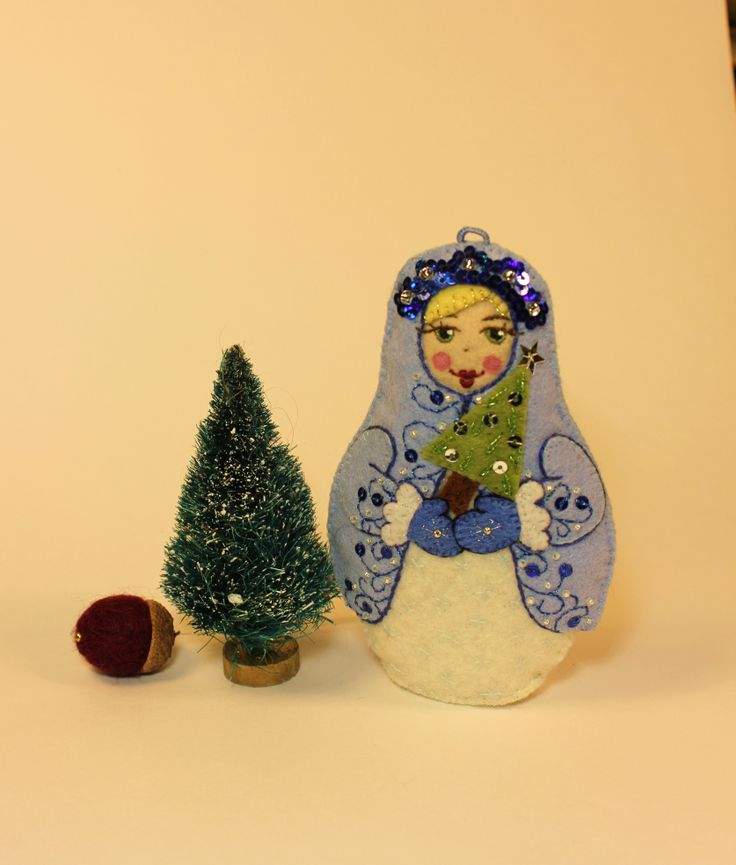 The Snow Maiden - a popular imagine from Russian folklore. Here's my modern interpretation - designed for The Snow Queen's Garden.