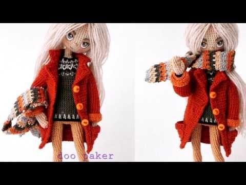Кукла крючком Виолетта , часть 6 (Лицо). Crochet doll Violetta, part 6 (Face) - YouTube