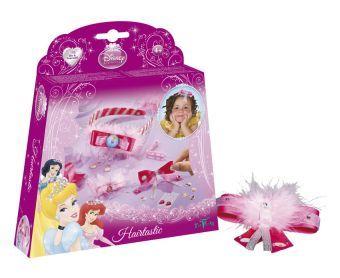 Totum Disney Princess hairtastic  De kinderen zullen veel plezier beleven met deze Disney Princess knutselset. Ze kunnen zelf prachtige prinsessen haaraccessoires maken. Met de onderdelen in deze set maken ze ook mooie speldjes en prachtige haarspeldjes met mooie kristalstickers. Geschikt voor kinderen vanaf 4 jaar.  EUR 8.68  Meer informatie