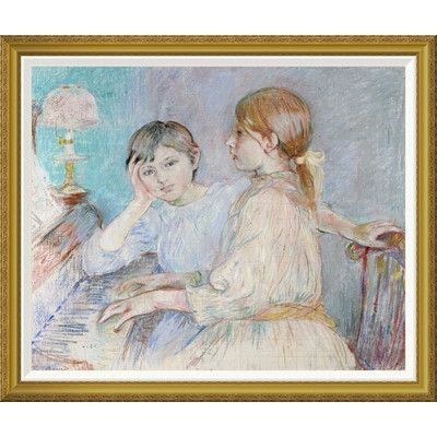 Global Gallery 'Le Piano' by Berthe Morisot Framed Wall Art Size: