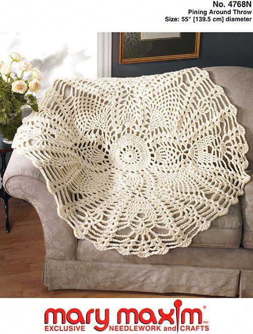 Pining Around Throw Pattern | Crochet Blankets | Crochet, Crochet