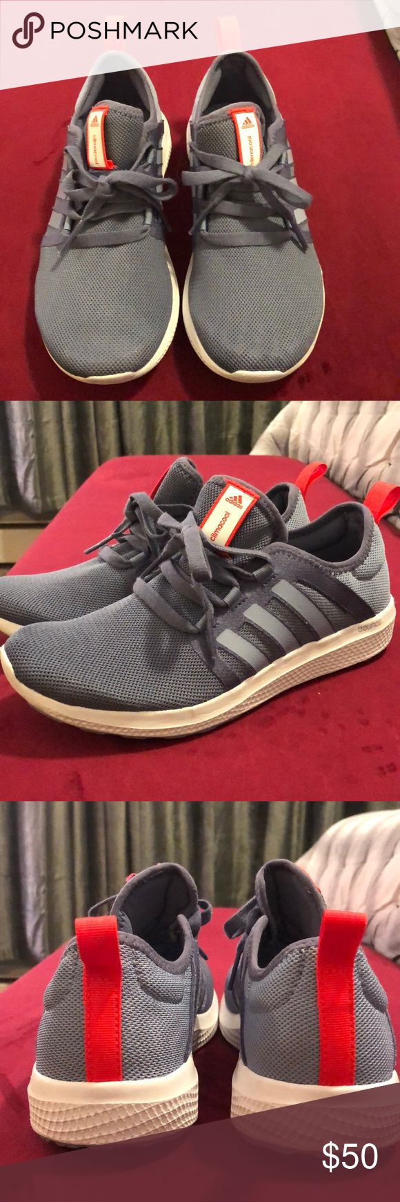 Adidas ClimaCool Fresh Bounce running trainers Super cute and lightweight sneakers from Adidas! Pretty light blue with bright orange accents. Worn only twice, in very good shape. I usually wear a size 7 and these 6.5 fit me just right. Adidas usually run a little big. adidas Shoes Athletic Shoes