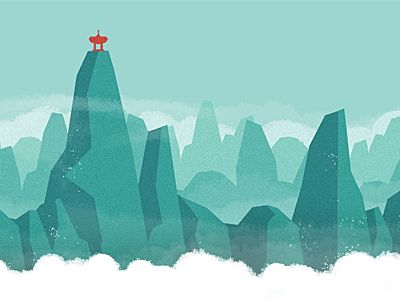 Dribbble Mountains by Andrew Power #Moutains #Blue #LowPoly