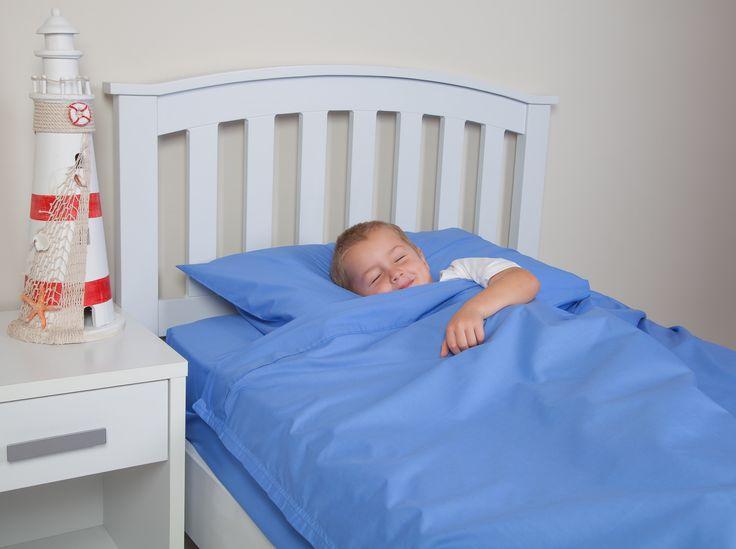 Kids Zip Sheets 92*201*35 standard bed Blue sheets set. www.kidszipsheets.eu