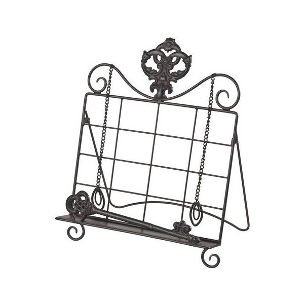Sterling Industries 129-1065 Iron Book Stand Bronze Home Decor Recipe (€46) found on Polyvore featuring home, kitchen & dining, cookbooks, bronze, home decor, kitchen decor, recipe holders, sterling industries, recipe cookbook and cook-book