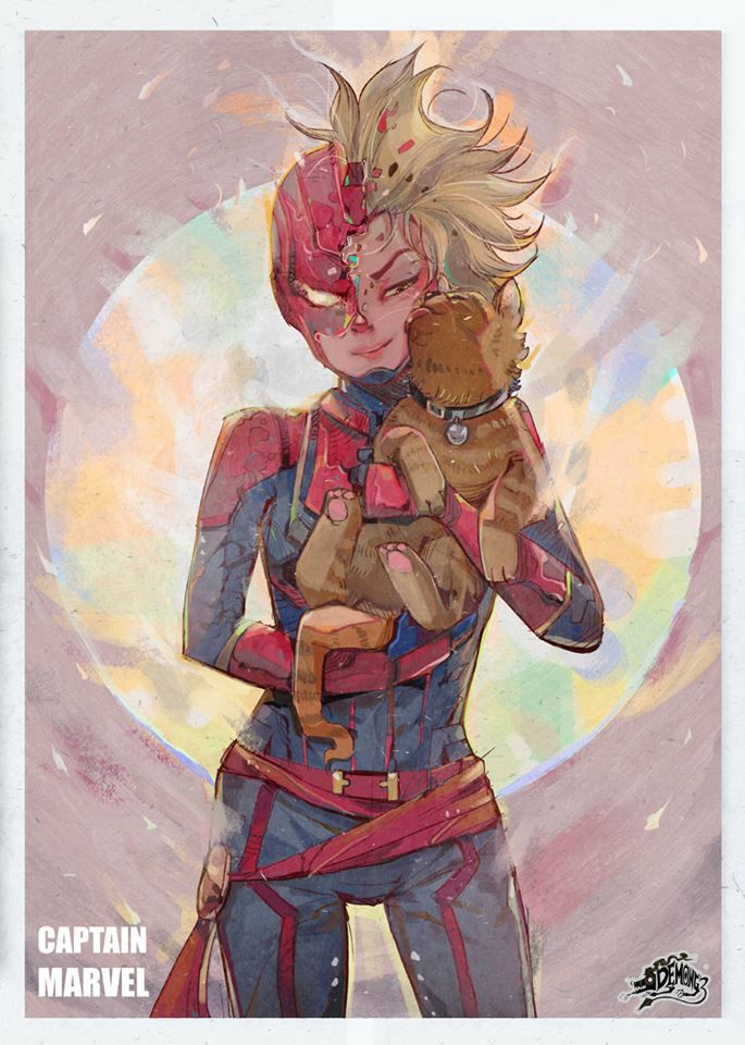 """""""Captain Marvel"""" fan art by Narupiti Harunsong"""