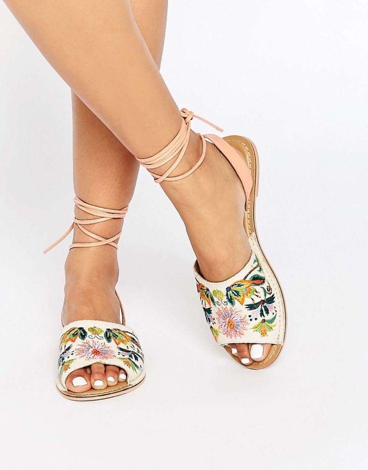 zapatos estampados flores asos
