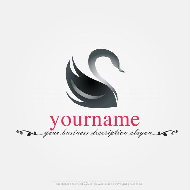 Free Logo Maker   Ready Made Black Swan Logo Design Online