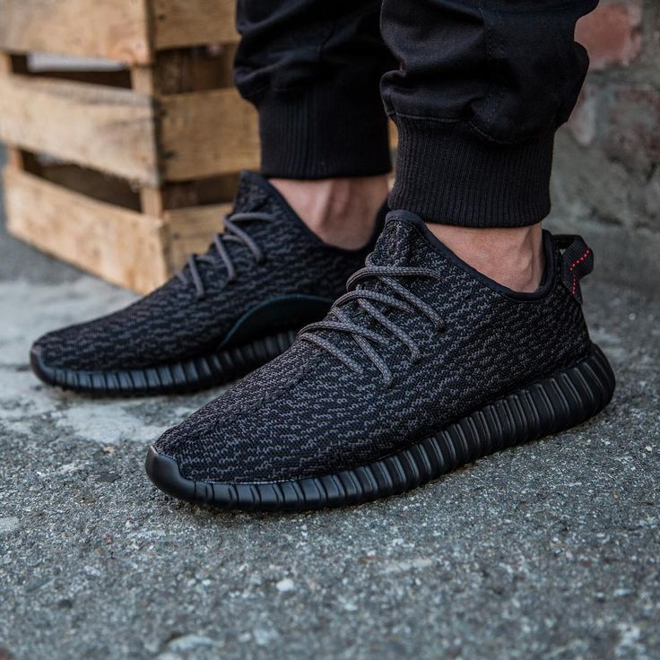 I never liked them when they first came out since i love lanvin sneakers better but these Yeezy Boosts in black are fresh to death. I want em!