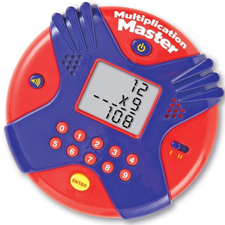 This hand-held math teaching game for kids will turn learning the multiplication into fun activity at home or on the go! Manufactured by Learning Resources.