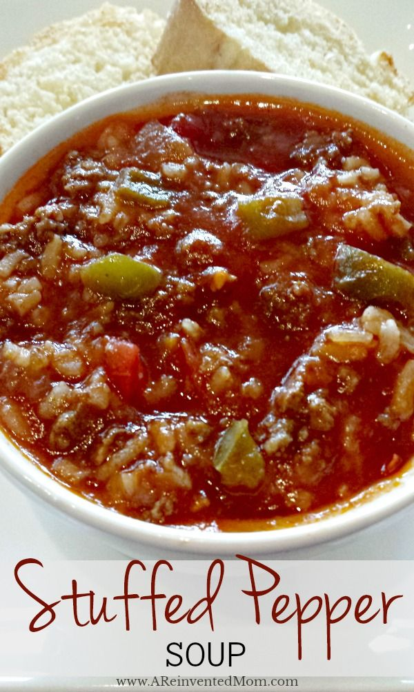 Stuffed Pepper Soup | Hearty soup packed with flavor.