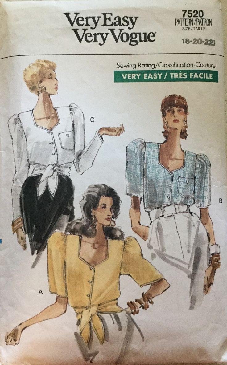 689 besten Misses\' Vogue Sewing Patterns twogirlpugs@Bonanza.com ...