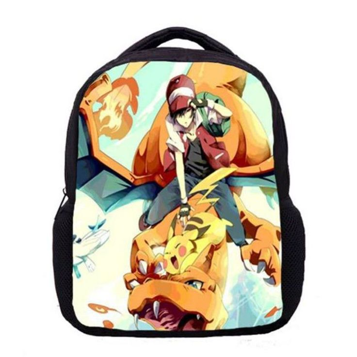 Cute printing cartoon pokemon backpack Animation children student school bags for boys girls bagpack book