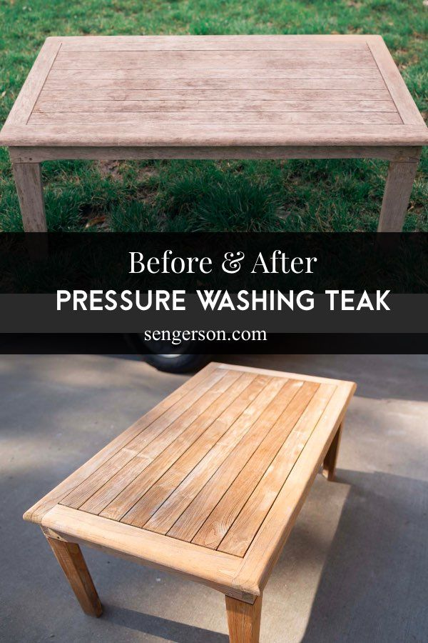 How To Pressure Wash Teak Outdoor Patio Furniture Best Tips And Tricks In 2020 Diy Patio Cushions Teak Outdoor Outdoor Patio Set