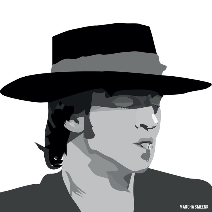 My illustration of Stevie Ray Vaughan