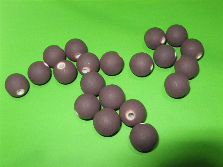 Acrylic mat purple round beads 15mm (15 pcs)
