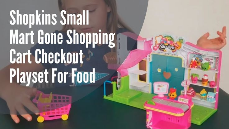 Shopkins Small Mart Grocery Store Playset and Shopkins Refrigerator Set