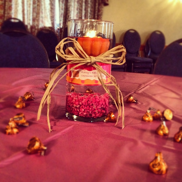 Fall baby shower centerpiece little pumpkin