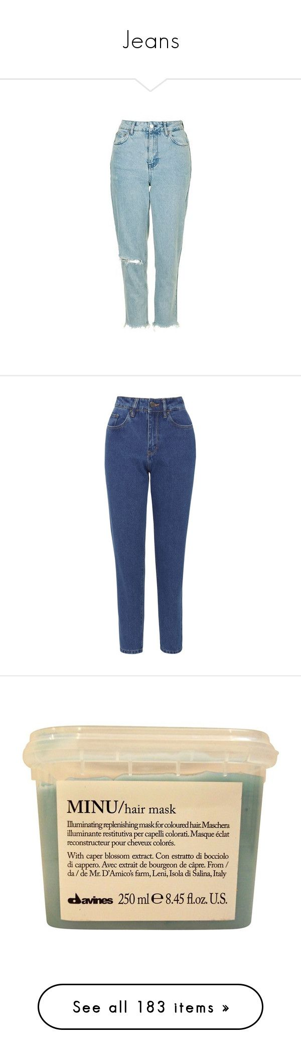 """""""Jeans"""" by tacoxcat ❤ liked on Polyvore featuring jeans, indigo, high rise jeans, cuffed blue jeans, cuffed jeans, bleached jeans, indigo jeans, tapered fit jeans, tapered jeans and relaxed fit jeans"""
