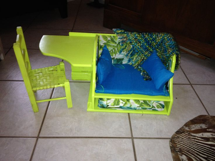 All In One Desk Chair And Fold Out Futon American Girl
