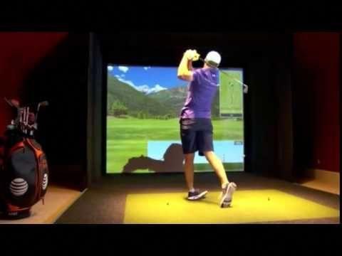 Jordan Spieth Plays E6 Golf Simulator By Trugolf Youtube Golfsimulators Golf Tips Golf Simulators Golf Tips Driving