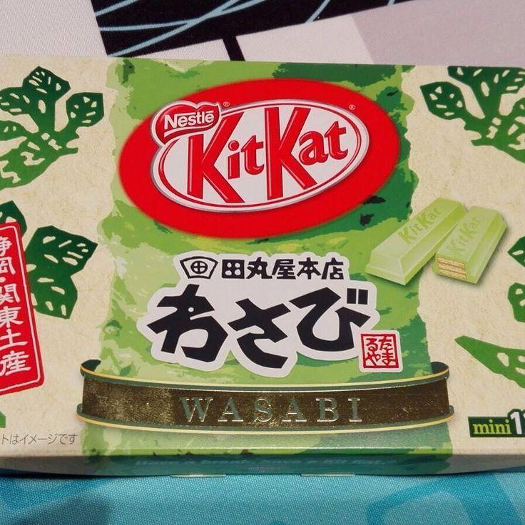 #InstagramELE #vivo  Esperamos seguir vivos después de probar este Kitkat que nos han traído unos amigos al volver de su viaje a Japón. Nos faltará probar el de pimiento picante @mariaparrula  #Kitkat #wasabi