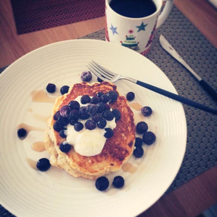 Classic blueberry pancakes