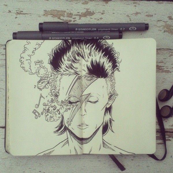 #8 Happy Birthday David Bowie by 365-DaysOfDoodles.deviantart.com on @deviantART