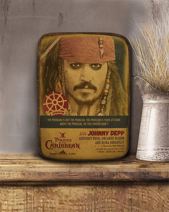 Jack Sparrow Pirates of the Carribean Johnny Depp Wooden