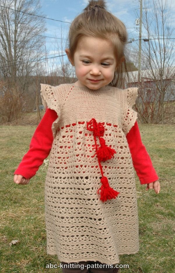 ABC Knitting Patterns - Flower Girl Lace Dress