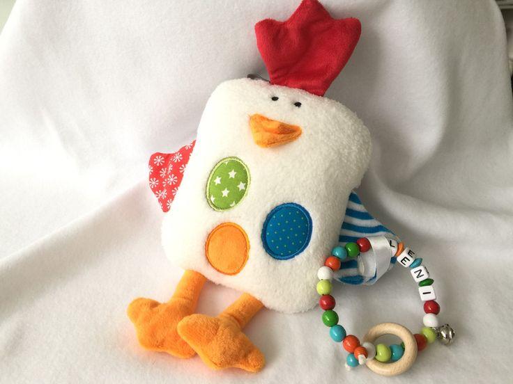 Wärmkissen - Wärmekissen Huhn Rapssamen persönlich mit Name - ein Designerstück von sinchn bei DaWanda