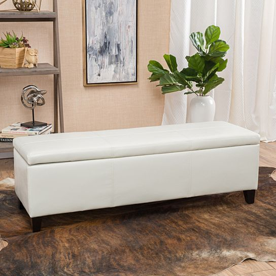 Buy Skyler Off-White Leather Storage Ottoman Bench by GDFStudio on Dot & Bo - 25+ Best Ideas About White Storage Ottoman On Pinterest Ikea