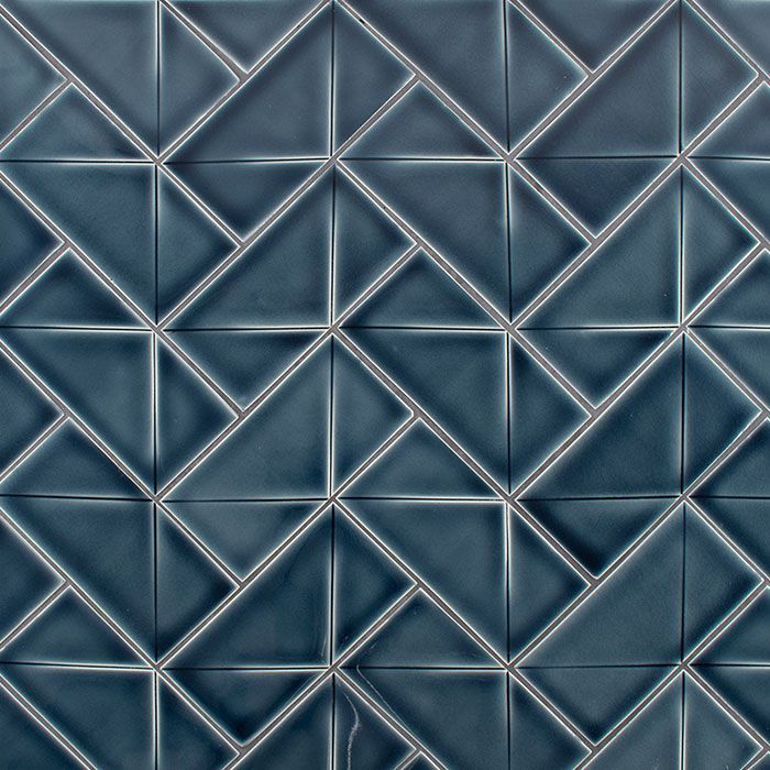 American Handmade Decorative Ceramic Tile Wall Tile Backsplash Tile Relief Tile Watercolor Inline Decorative Ceramic Tile Handmade Ceramic Tiles Blue Tile Wall