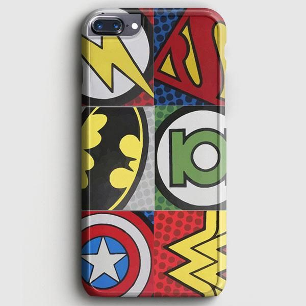 Pop Comic Super Hero Logo iPhone 8 Plus Case   casescraft