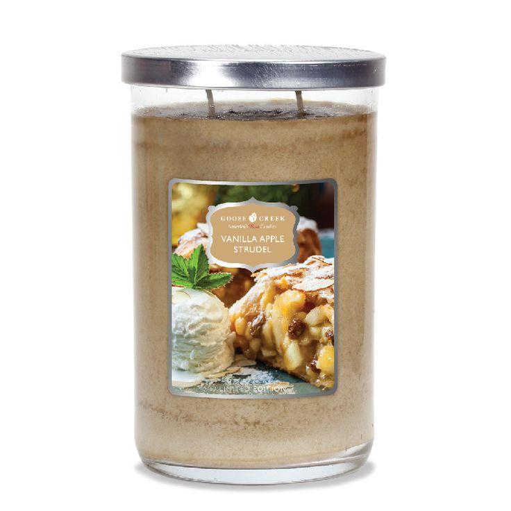 Vanilla-Apple-Strudel Goose Creek Candle 20 Oz Tumbler   Nieuw Holiday Goose Creek Candle   Kadoshop De Duizendpoot