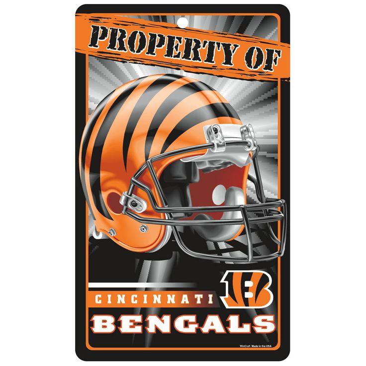 Cincinnati Bengals NFL Property Of Plastic Sign (7.25in x 12in)