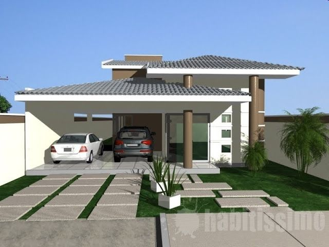 Fotos de fachadas de casas modernas com telhado aparente - Fachadas casas modernas ...